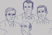Portraits d'hommes politiques